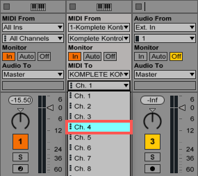 how to add a midi output ableton
