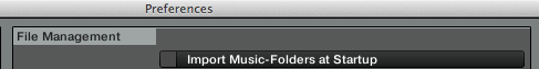 Import music-folder at startup