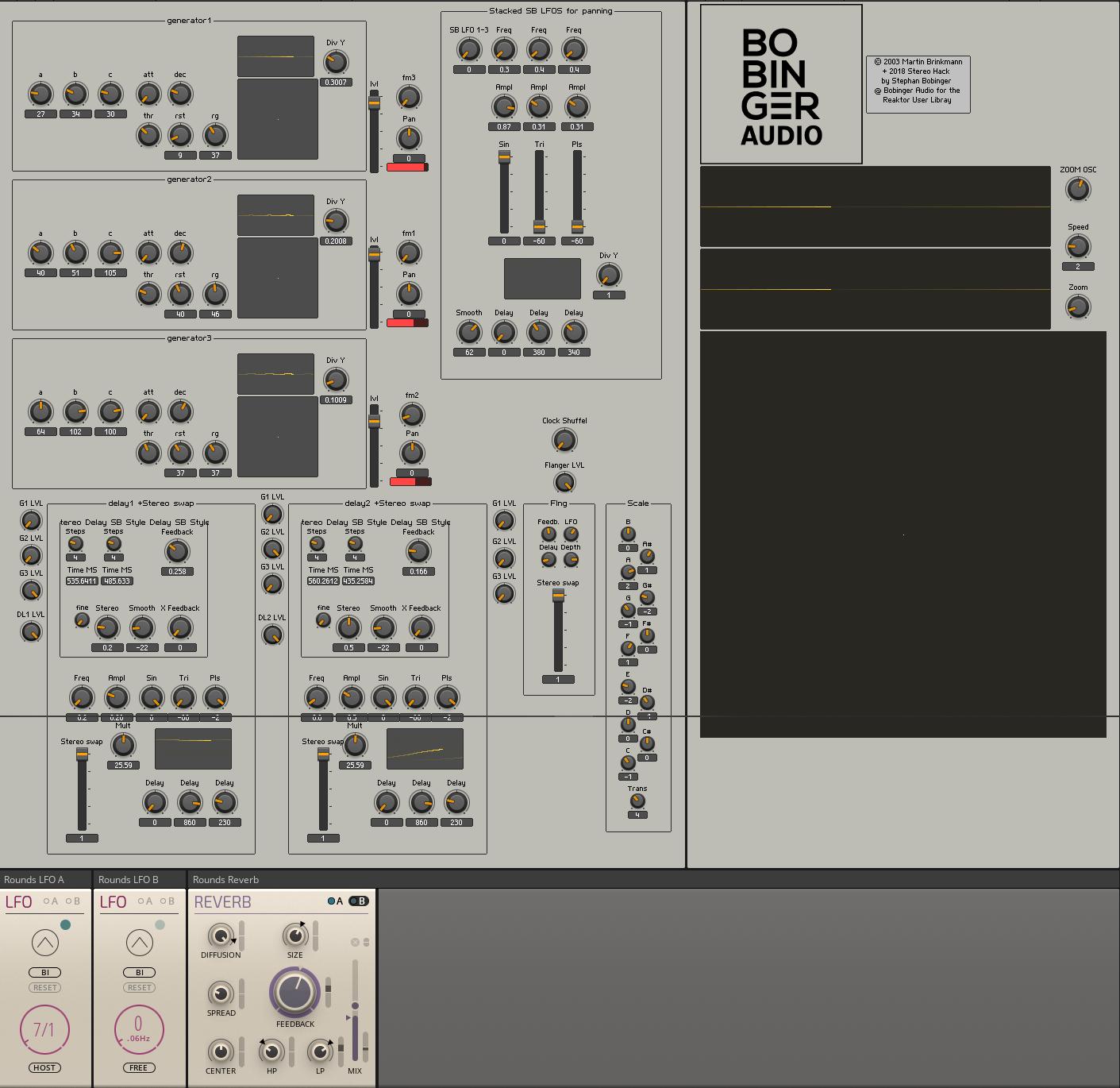 Ginger Bobinger Audio Stereo Hack   Entry   Reaktor User Library