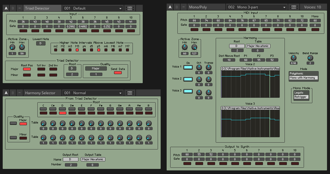 Triad Harmonizer | Entry | Reaktor User Library