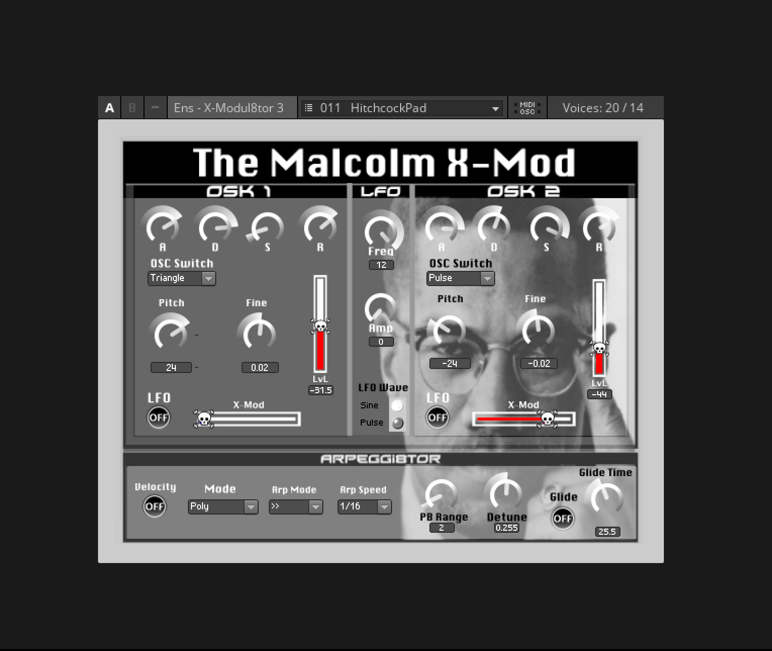 The Malcolm X Mod Synthesiser Entry Reaktor User Library Audio Oscillators A Basic Exploration Of Cross Modulation With Two