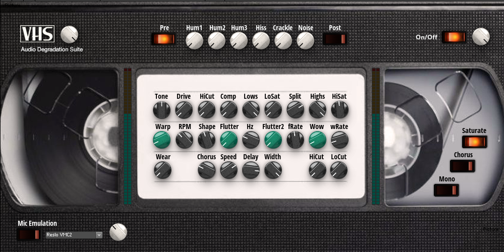 VHS Audio Degradation Suite | Entry | Reaktor User Library
