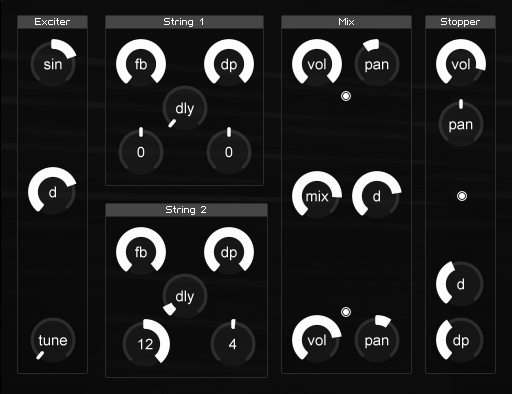 guitar string synthesizer entry reaktor user library. Black Bedroom Furniture Sets. Home Design Ideas