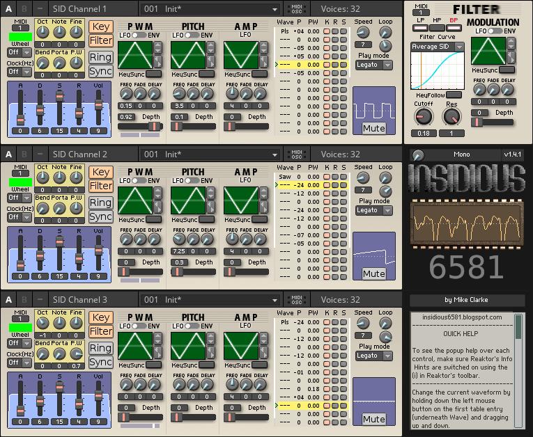 INSIDIOUS 6581 | Entry | Reaktor User Library