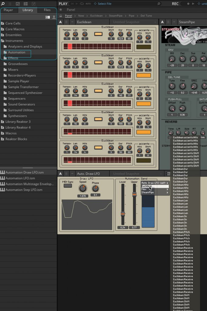 Euclidean sequencer with other VST | NI Community Forum