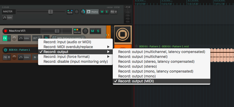Solved - Send notes to DAW using Maschines Pads? (without