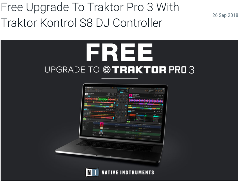 Free traktor pro 3 upgrade is a disgrace towards existing clients