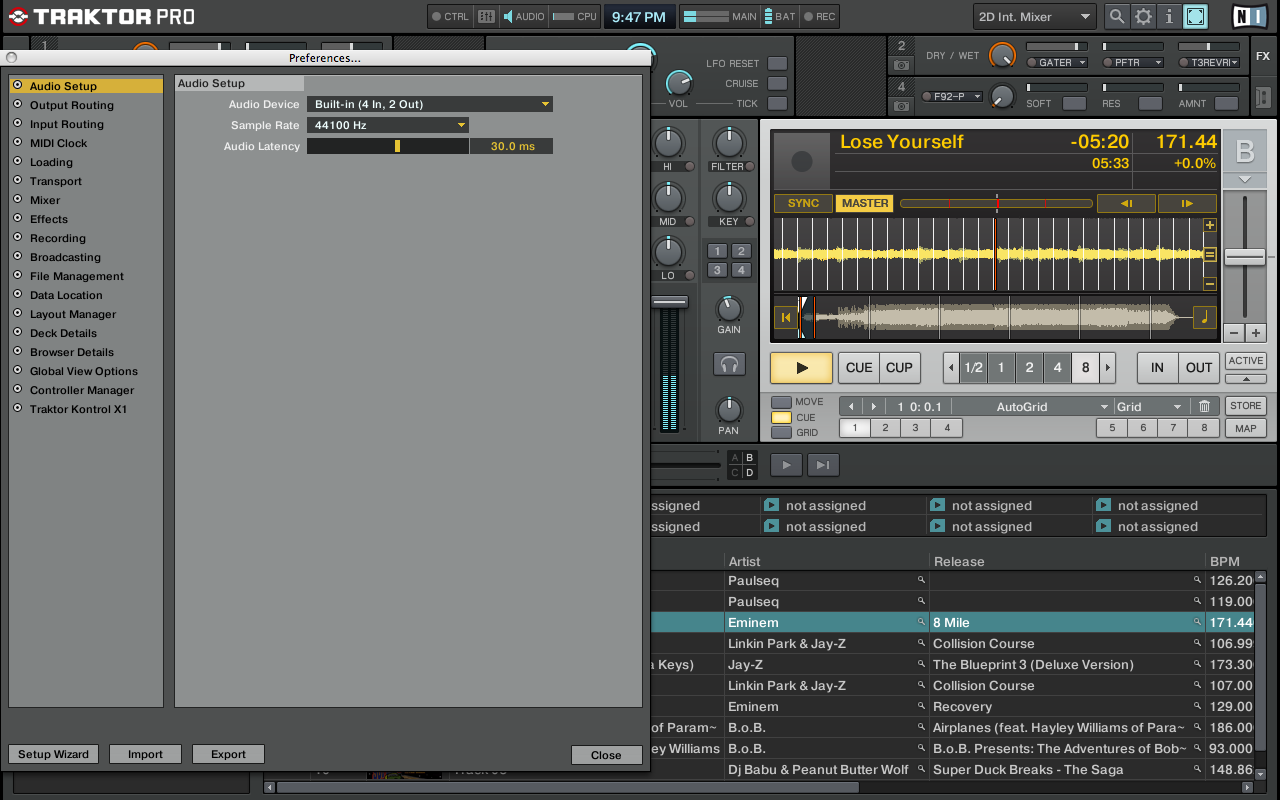 No sound from traktor pro using built in audio from macbook ni screen shot 2010 07 10 at 94755 pmg malvernweather Image collections