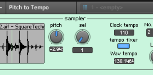 pitch and tempo