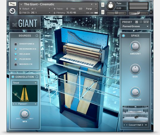Native instruments the giant: larger than life piano (kontakt.