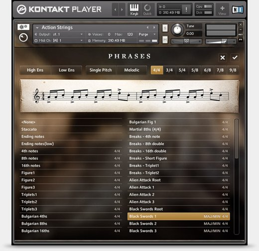 Komplete : Cinematic : Action Strings | Products