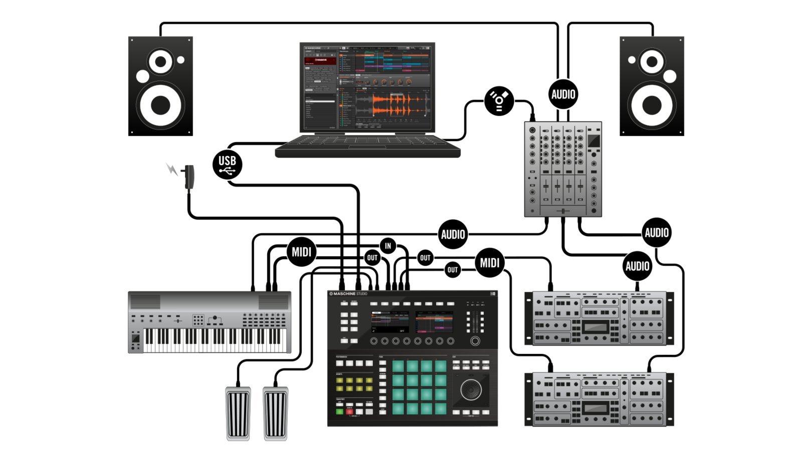 Setting Up Maschine And Komplete Kontrol With Ka6 Ni Community Forum Usb Midi Wiring Diagram Img