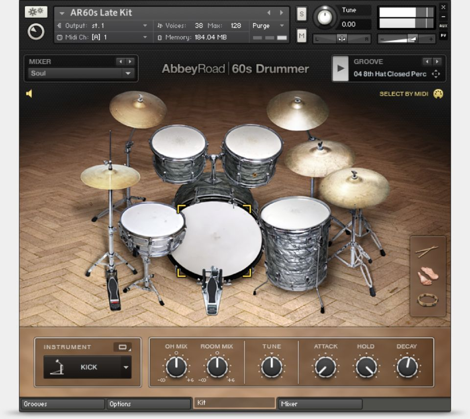Komplete : Drums : Abbey Road 60S Drummer | Products