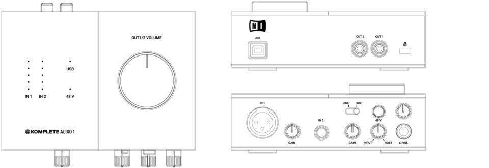 Audio Interfaces : Komplete Audio 1 / Audio 2 : Specifications | KompleteNative Instruments