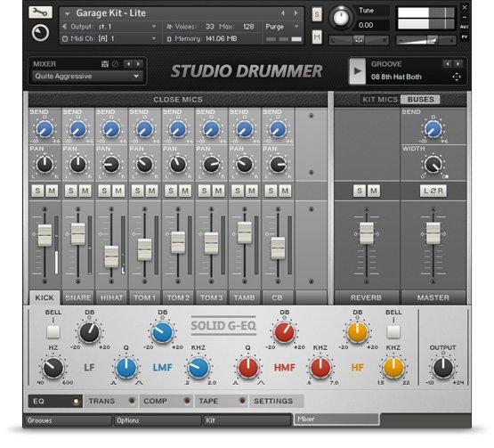 Komplete : Drums : Studio Drummer : Das Studio | Produkte