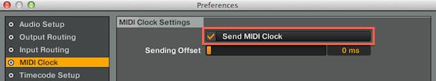 Send MIDI Clock