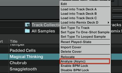 Analyze beatgrid Track