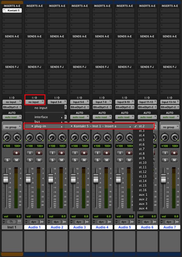 How to route KONTAKT 5 to multiple outputs in Pro Tools 10 ...