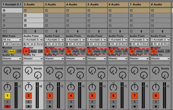 how to add a outputs on ableton live