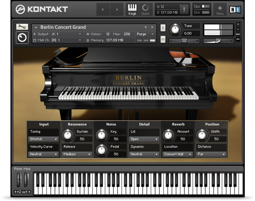 Native Instruments Berlin Concert Grand KONTAKT for PC (1 dvd)