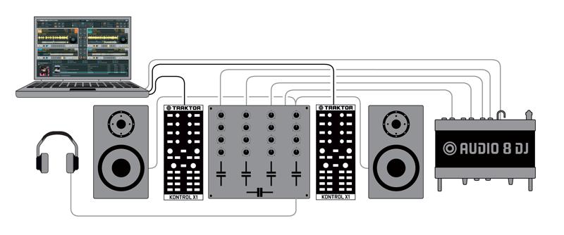 set up question audio dj 8 and mixer ni community forum. Black Bedroom Furniture Sets. Home Design Ideas